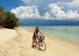 Cycling in Gili Islands